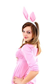 Free Easter Bunny Female Royalty Free Stock Image - 20595286