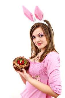Easter Bunny Female Stock Photography