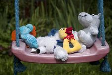 Free Puppets On Rocking In The Garden Stock Images - 20595364
