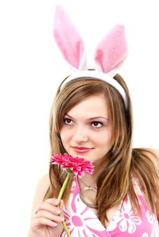 Free Easter Bunny Female Royalty Free Stock Image - 20595366