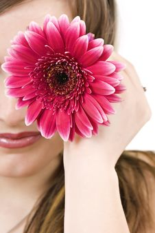 Free Young Blond Woman With Flower Stock Images - 20595384