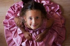 Free Little Girl In A Pink Dress Royalty Free Stock Photography - 20595397