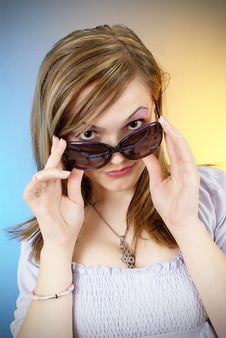 Free Beautiful Girl In Sun Glasses Stock Photos - 20595733