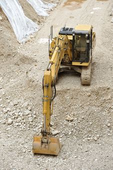 Free Digger In Yard Stock Image - 20595821
