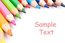Free Color Pencils Royalty Free Stock Photo - 20595855