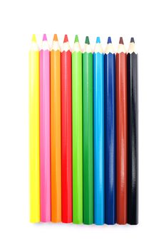 Close Up Of Color Pencils With Different Color Royalty Free Stock Image
