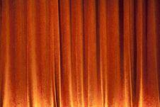 Free Orange Curtain Background Royalty Free Stock Images - 20596079