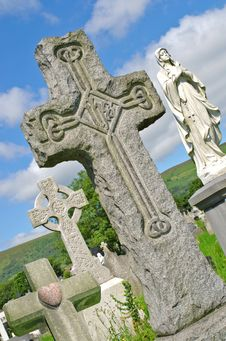 Free Irish Gravestones Belfast Hills Royalty Free Stock Images - 20596149