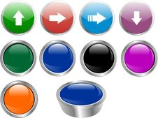 Free Color Buttons Vector Royalty Free Stock Images - 20596249