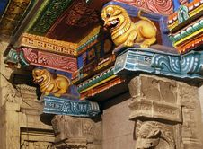 Free Inside Of Meenakshi Hindu Temple In Madurai Stock Photography - 20597312