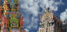 Meenakshi Hindu Temple In Madurai Royalty Free Stock Photos