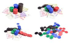 Free Poker Chips And Millions Dollars Stock Photo - 20597420