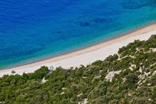 Free Croatian Beach Aerial - Sand And Pebbles Royalty Free Stock Image - 20597566