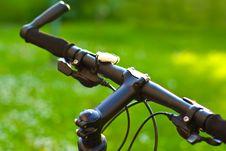Free Mountain Bicycle Handlebars Stock Photo - 20597900