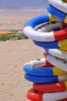 Sea Beach Holiday Life Buoy Stock Photography