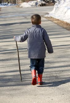 Young Boy Walking Stock Images