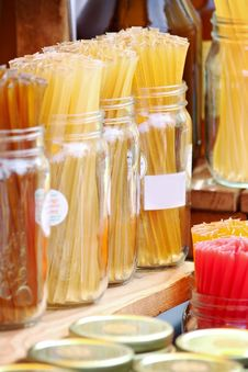 Honey Sticks Stock Photo