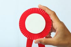 Free Reward Red Sign In Hand Royalty Free Stock Photo - 20599045