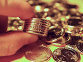 Free The Brand New US Dollar Coins Stock Photography - 2061792
