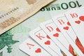 Free Royal Flush On Banknotes Stock Photos - 2062893