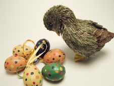 Free Easter Eggs With Duck Stock Images - 2060294