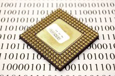 Free Microprocessor And Binary Code Stock Photography - 2060912