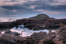 Pacific Ocean. Landscape 54 (HDRI) Stock Images