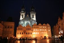 Free Tyn Church And Old Town Square In Prague Royalty Free Stock Photos - 2061258