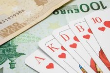 Free Royal Flush On Banknotes Stock Photos - 2062893