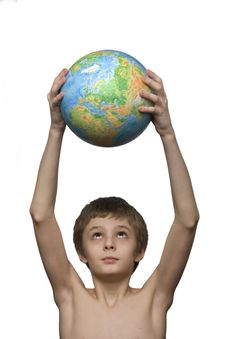 Free Boy And Globe Stock Images - 2063154