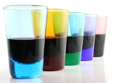Free 5 Drinking Glasses - Close Up Stock Photography - 2064012