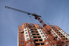 Free Construction Of A New Multi-storey Brick Building. Stock Photography - 2064072