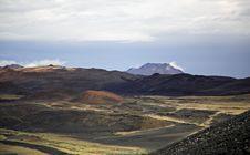 Krafla Landscape Stock Photo
