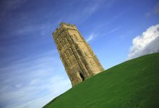 Free Quirky Angle Of Glastonbury Tor Royalty Free Stock Images - 2064699