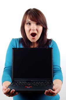 Free Woman Holding Laptop 9 Royalty Free Stock Photos - 2065308
