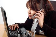 Free Businesswoman At Desk 16 Stock Photo - 2065630