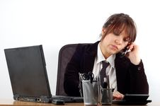 Free Businesswoman At Desk 16 Royalty Free Stock Photography - 2065667