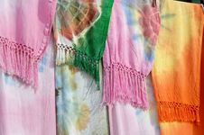 Colored Scarfs In Marocco Stock Photo
