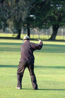 Free Golfer Mid-swing Royalty Free Stock Photos - 2069578