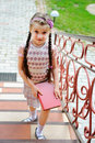 Free Young Girl With Pink Backpack Ready For School Royalty Free Stock Image - 20601936
