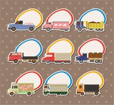 Free Cartoon Truck Stickers Stock Images - 20600084