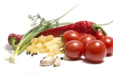 Tomatoes And Pasta Stock Images