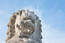 Free Close-up Of Chinese Imperial Lion Statue Stock Photo - 20600490