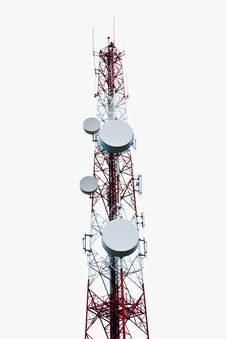 Mobile Phone Communication Tower Royalty Free Stock Images