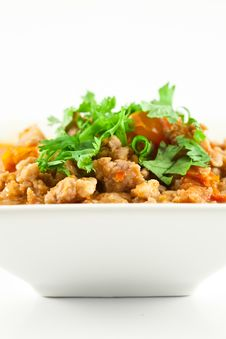 Free Pork And Tomato Relish , Northern Thai Food Royalty Free Stock Image - 20601326