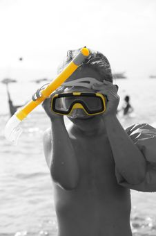 Free Baby Snorkeling Stock Image - 20601571