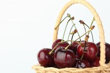 Free Cherry In Bamboo Basket Royalty Free Stock Image - 20601646