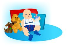 Free Baby Boy With Toys, Cdr Vector Royalty Free Stock Photo - 20601795