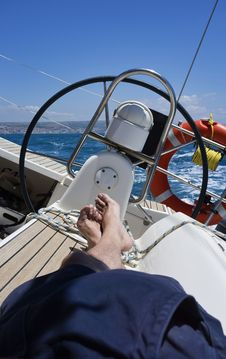 Free Cruising On A Sailing Boat Stock Images - 20601804