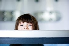 Free Child Girl Plays In A Bathtub Stock Photography - 20601992